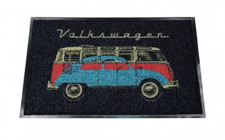 VW T1 buss / boble dørmatte - sort